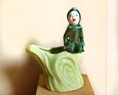 Vintage Ceramic Pixie Planter by Pixie Potters in California by Millesan Drews 1950s.