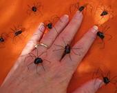 Handmade Black Widow Spiders, Black Widow Spider, Realistic Black Widows, Halloween Spiders, Spiders for Props Decor, Creepy Decor Spiders