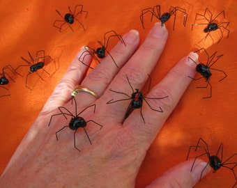 handmade black widow spiders black widow spider realistic black widows halloween spiders - Halloween Spiders