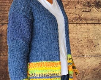 Knit Sweater Pattern, Knit Pattern for Cardigan Sweater, Cardigan Sweater Pattern, Patterns for Cardigan Sweaters, Knitting Pattern