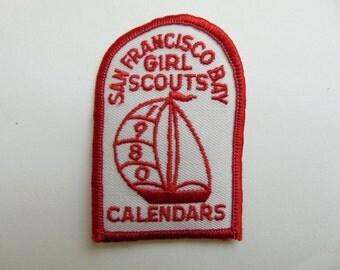 Vintage Girl Scout Badge Patch 1980 San Francisco Bay Calendars