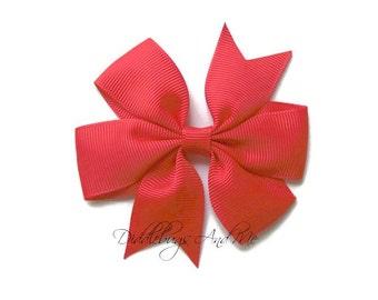Red Hair Bow, Red Pinwheel Hair Bow, Girls Hair Bow,  Pinwheel Hair Bow, Girls Hair Bow Accessories, Holiday Hair Bows, Girl's Bows