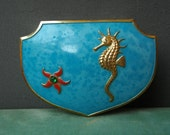Vintage Trinket Jewelry Box Seahorse Starfish Tropical Vacation