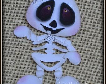 Skeleton Halloween premade scrapbooking embellishment Paper Piecing set