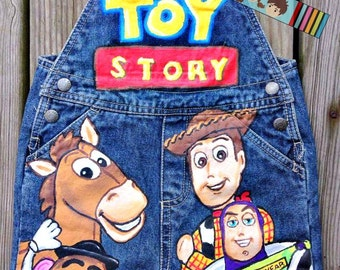 Toy story mickey mouse clubhouse Boys shortall set Boutique custom painted 12 18 24 2 3 4