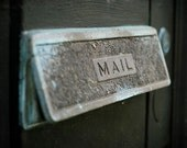 """New Orleans French Quarter Mailbox Photograph. """"NOLA Mail"""" Print. Affordable Home Decor."""