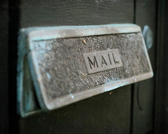 "New Orleans French Quarter Mailbox Photograph. ""NOLA Mail"" Print. Affordable Home Decor."