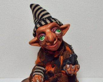 Witch Art Doll Swamp Hag Gertrude Handmade Folk Art