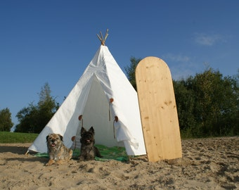 XL Teepee cover for 2 persons. Incl Poles and internationale shipping...Outdoor, relax and surf shack or indoor Hideaway! Free Shipping!
