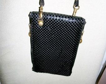 Evening purse black sequins cross body  clutch on Sale