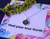 Best friend gift, compass necklace, follow your dreams, college graduation gift, friendship necklace