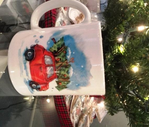 11oz Mug - Christmas Bringing Home the Tree Mug