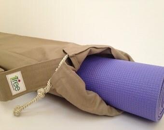Tan Yoga Mat Bag