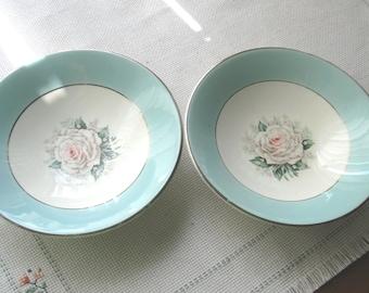 Set of Two (2) Century Service Fruit/Dessert Bowls - Baroness Pattern