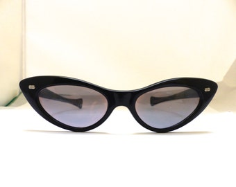 1950s  Cats Eye   Eyeglasses // 50s Vintage Frames // Pin Up // Black