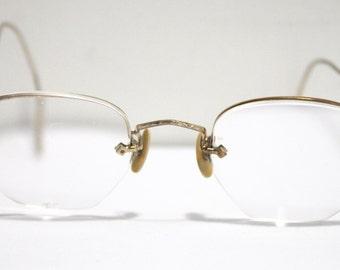 Antique 1920s Eyeglasses // 20s 30s Rare Vintage Frames // Gold-filled // Art Deco //  Hexagon Lens // AM008