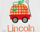 Personalized Pumpkin Wagon Shirt, Boys Halloween Shirt, Boys Thanksgiving Shirt, Boys Pumpkin Shirt, Custom Pumpking Shirt, Pumpkin Wagon