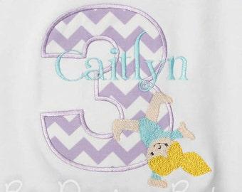 Gymnastics Birthday Shirt, Birthday Shirt, Any Age, Number, Shirt  Monogrammed,  Birthday Shirt, Birthday Gift