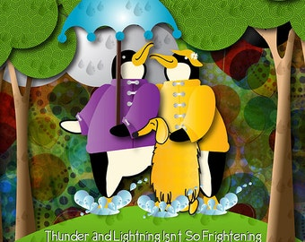 Thunder and Lightning Isn't  So Frightening!