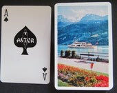 Complete Vintage Deck of Astor Playing Cards-White Ferry Boat