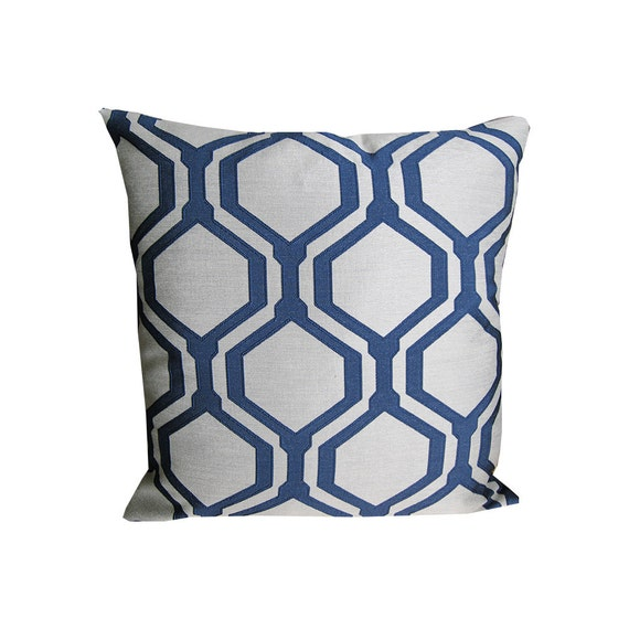 Throw Pillow On Chair : Blue Pillow Cover Throw Pillows Chair Pillow by SPCustomDrapery