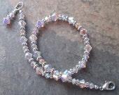 Reserved Listing for Christine ~ Pair of Swarovski Crystal Ankle bracelets