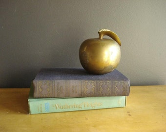Weighty Apple - Vintage Brass Apple - Large Brass Paperweight
