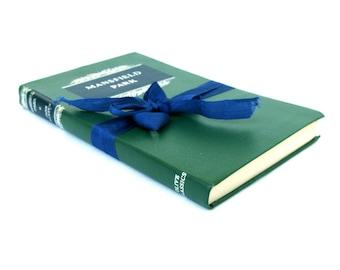 Mansfield Park by JANE AUSTEN, Olive Classics, Green Austen Book,  Jane Austen Wedding, FALL Green Decor, London Austen Book, Vintage Austen