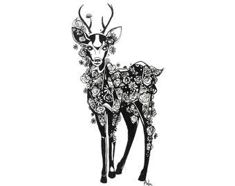 minimalist ink print: Victrix
