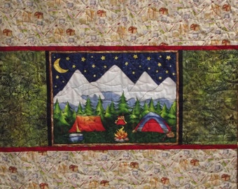 Camping Quilt Kit-Includes All Fabric/Fast & Easy-Make in a Day-Cabin Decor or Take Camping