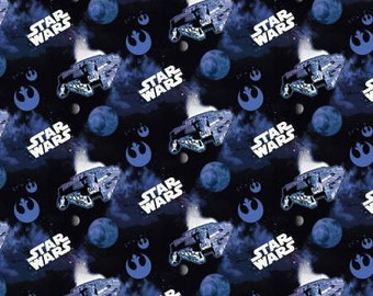 33 inch end of Bolt Star Wars III Collection Millenium Falcon Novelty fabric by the yard 73100303