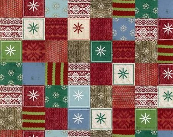 SPX - Bundle Up - Multi Sweater Patchwork Christmas Holiday Fabric by the yard  25601-MUL1