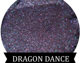 DRAGON DANCE Purple eyeshadow with green iridescent shimmer