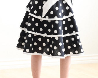 Child Layered Skirt Sewing Pattern LILLIAN Girls Skirt PDF Sizes 6-12 ONLY #211 (6-12)
