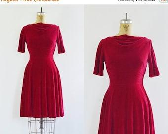 50% OFF SALE Coming soon • Red Velvet Dress