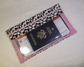 10x6 Travel Document Wallet, Long Travel Wallet, Passport Wallet, Travel Organizer,Travel Itinerary Holder,Zipper Wallet, Womens Wallet