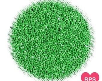 Grass Green Nonpareil Sprinkles, Grass Green Sprinkles, Christmas Sprinkles, Christmas Nonpareils, Edible Sprinkles, 100's & 1,000's