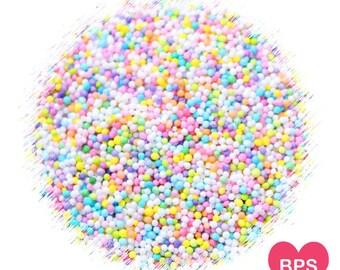 Pastel Rainbow Nonpareil Sprinkles, Rainbow Nonpareils, Pastel Sprinkles, Cupcake Sprinkles, Pastel Cake Pop Sprinkles, Easter Sprinkles