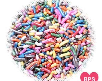 Shimmer Rainbow Jimmies Sprinkles, Rainbow Sprinkles, Rainbow Decorettes, Edible Sprinkles, Cake Sprinkles, Cupcake Sprinkles