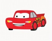 Disney Inspired Lightning McQueen from Cars Digital CLIP ARTS personal and commercial use for invitations, cupcake toppers, party supplies