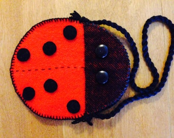 Lady Bug Purse/Free Shipping With Purchase Of Another Item/Ready To Ship