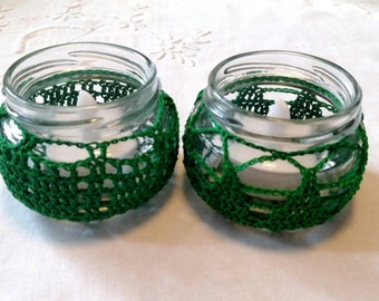 Recycled Jar Candle Holder Set of 2