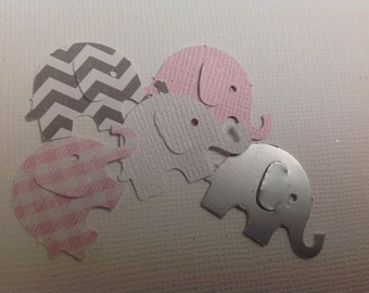 50 pc Paper Elephant confetti New Baby Shower Party