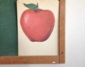Vintage School Flashcard- Apple