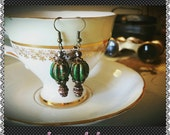 Reserved For LEAH - Vintage Circus Hot Air Balloon Earrings