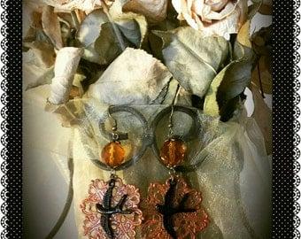 October Sky Filigree Earrings