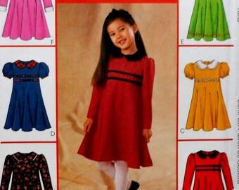 Girls Dress Sewing Pattern UNCUT McCalls 4241 Sizes 3-6