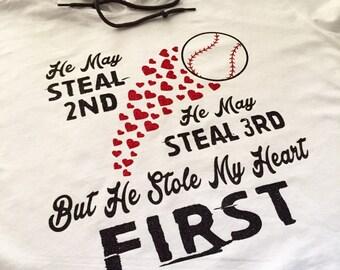 baseball hooded t shirt