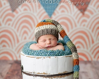 NEW ITEM! Elf Hat in Taupe, Oatmeal, Burnt Orange, Dusty Blue, and Sage