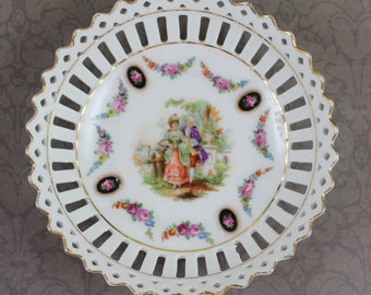 Vintage Porcelain Reticulated Germany Small Dish